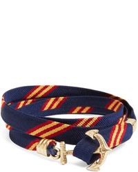 Brooks Brothers Kiel James Patrick Mini Bb1 Stripe Wrap Bracelet