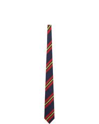 Drakes Red Sandwich Stripe Neck Tie