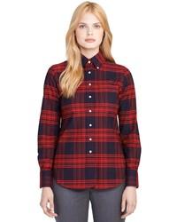 Brooks Brothers Supima Cotton Plaid Button Down Shirt