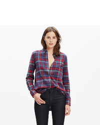 Madewell Flannel Ex Boyfriend Shirt In Bainbridge Plaid