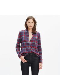 Madewell Flannel Ex Boyfriend Shirt In Bainbridge Plaid