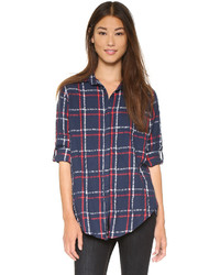 Sundry Oversized Flannel Check Shirt