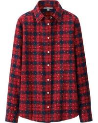 Uniqlo Flannel Print Long Sleeve Shirt