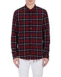 Amiri Plaid Cotton Flannel Shirt