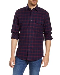 Nordstrom Men's Shop Trucker Regular Fit Plaid Flannel Button Up Shirt