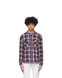 Diesel Blue Check D Wear B Shirt
