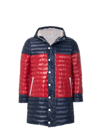 Thom Browne Bicolor Quilted Down Satin Tech Coat