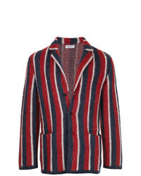 Navy and Red Vertical Striped Blazer
