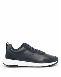 BOSS Navy Low Top Trainers