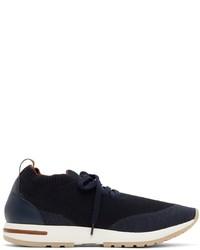 Loro Piana Navy Wish 360 Flexy Walk Sneakers