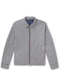 Mr P. Checked Cotton Blend Boucl Jacket