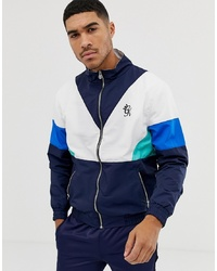 Gym King Jacket In Navy Retro Shell