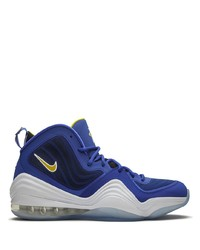 Nike Air Penny 5 Blue Chips High Top Sneakers