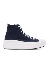 Converse Navy And White Chuck Taylor Move High Sneakers