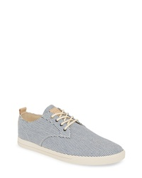 Navy and White Canvas Low Top Sneakers