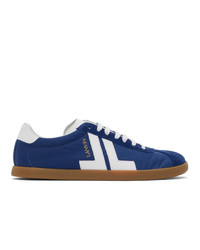 Lanvin Navy And White Canvas Glen Sneakers