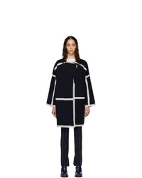 Chloé Navy Compact Wool Coat