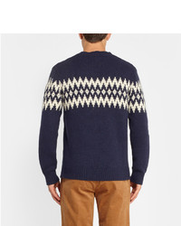Gant Rugger Fair Isle Jacquard Wool Blend Sweater | Where to buy ...