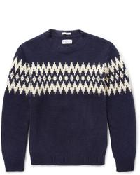 Rugger fair isle jacquard wool blend sweater medium 121263