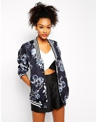 The Fifth General Specific Oversized Floral Bomber Jacket Multi