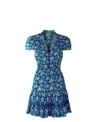 Bodyflirt floral print ra ra dress in blue floral size 20 medium 384659