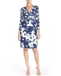 Charles henry floral jersey wrap dress medium 384641