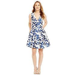 Betsey Johnson Floral Fit And Flare Dress