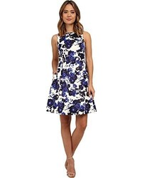 Vince Camuto Sleeveless Printef Floral Fit And Flare Dress
