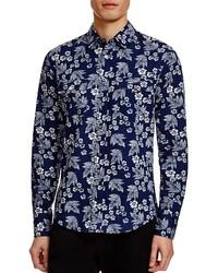 Boss Orange Hawaiian Print Slim Fit Button Down Shirt