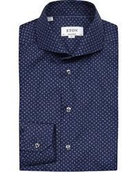 Eton Floral Print Cotton Shirt