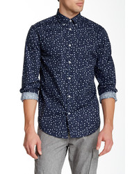 Ben Sherman Floral Print Long Sleeve Easy Fit Shirt