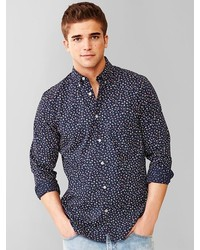 Gap Lived In Meadow Floral Print Shirt