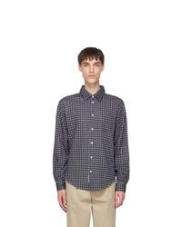 4SDESIGNS Navy Knit Bd Shirt