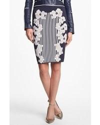 Diane von Furstenberg Kacee Print Twill Pencil Skirt