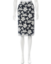 Marni Floral Pencil Skirt