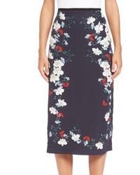 Erdem Floral Silk Midi Skirt