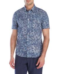 Benson Floral Print Short Sleeve Sport Shirt