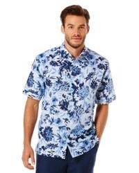 Cubavera big and tall floral linen blend shirt medium 74887