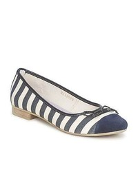 Navy and White Footwear