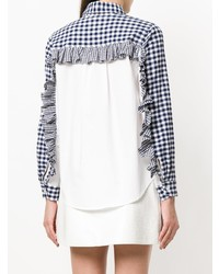 Frilled sleeve gingham shirt medium 7895295