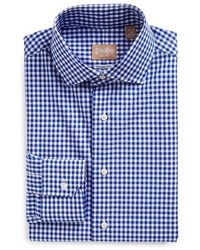 Gitman tailored fit gingham dress shirt medium 391426