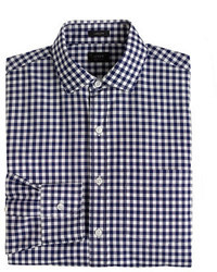 J.Crew Ludlow Slim Fit Spread Collar Shirt In Navy Gingham