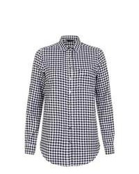 New Look Monochrome Gingham Long Sleeve Shirt