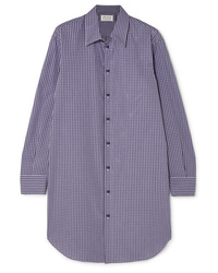 Maison Margiela Oversized Checked Cotton Poplin Shirt