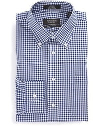 Shop traditional fit non iron gingham dress shirt medium 391419