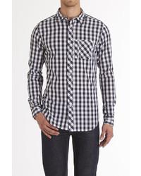 Goodale Rutledge Navygreen Gingham Plaid Shirt