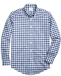 Brooks Brothers Non Iron Regent Fit Gingham Sport Shirt
