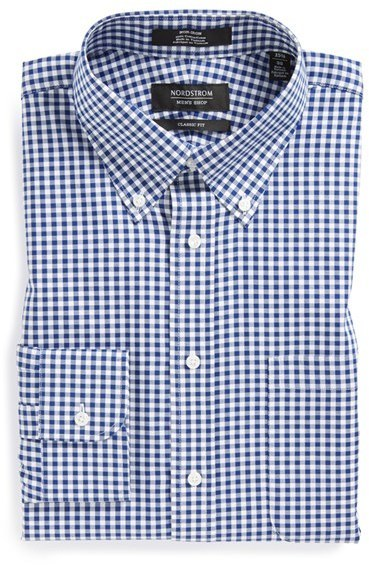 Nordstrom Shop Classic Fit Non Iron Gingham Dress Shirt