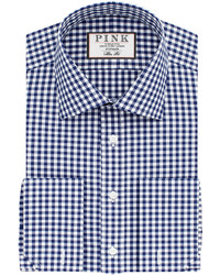 Thomas Pink Summers Check Slim Fit Double Cuff Shirt