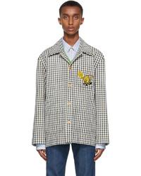 Gucci Navy White Freya Hartas Edition Gingham Jacket